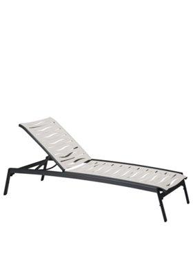 patio armless chaise lounge wave segment