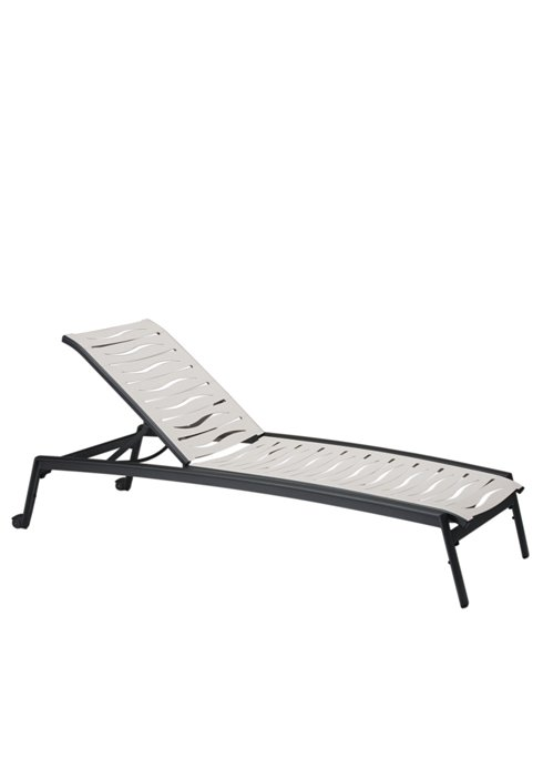 patio wave segment armless chaise lounge