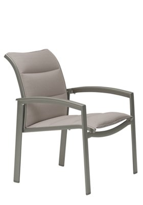 outdoor dining chair padded sling