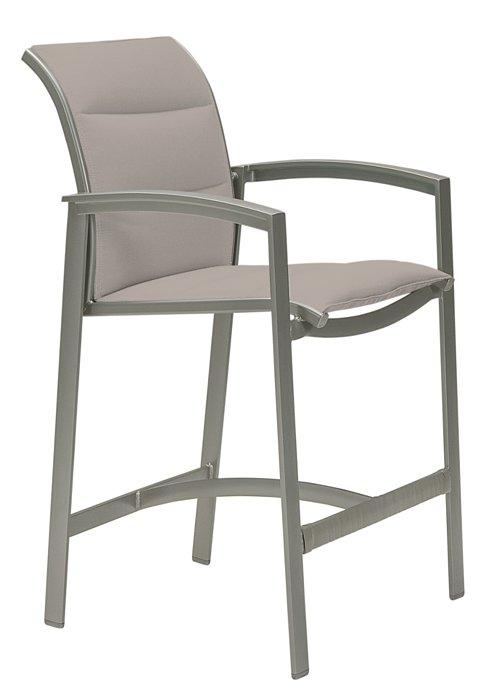patio stationary bar stool padded sling