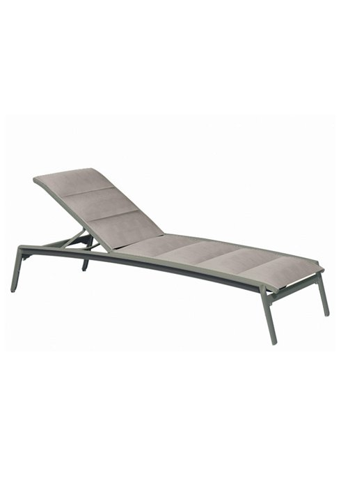 modern outdoor padded sling chaise lounge
