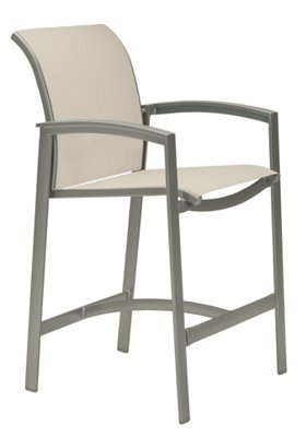 outdoor relaxed sling stationary bar stool