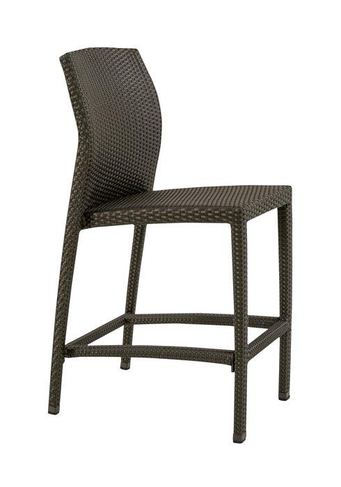 patio armless bar stool woven