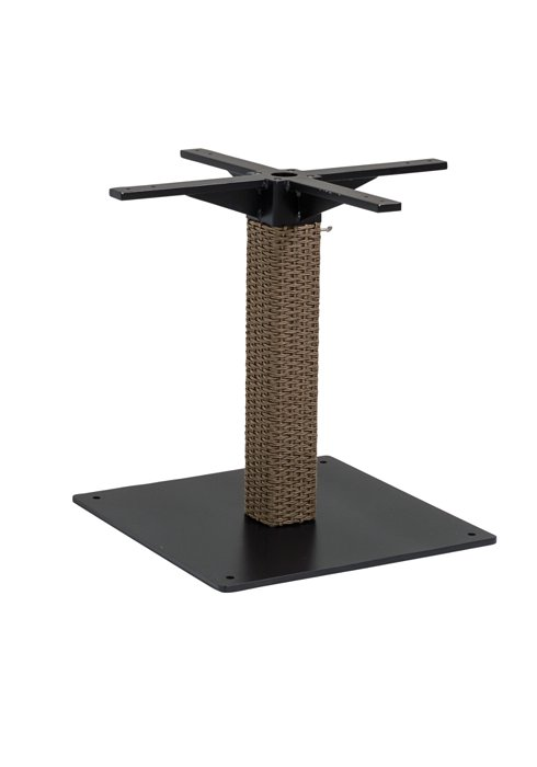 outdoor woven pedestal dining table base