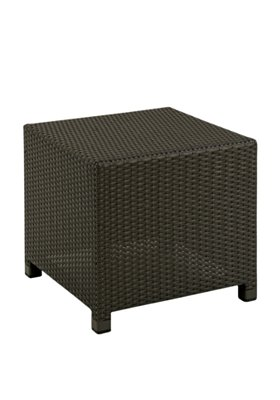outdoor woven square tea table