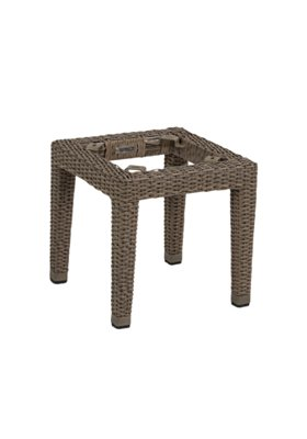 outdoor woven tea table base