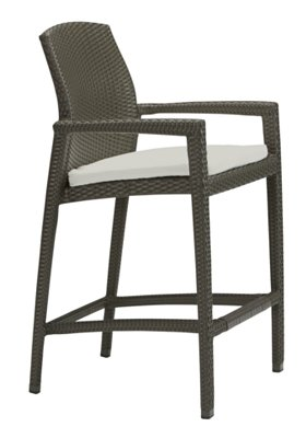 patio stationary bar stool with pad