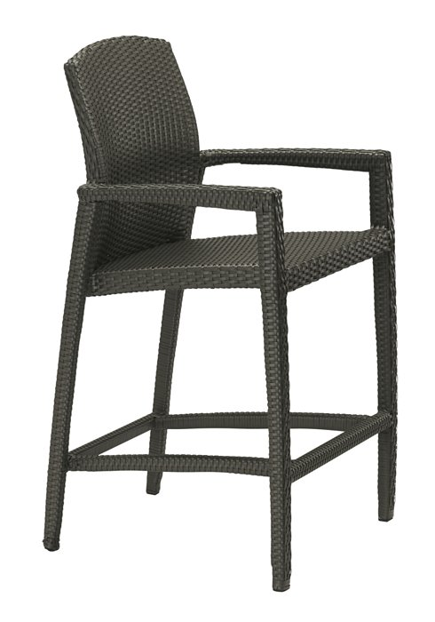 outdoor stationary bar stool woven