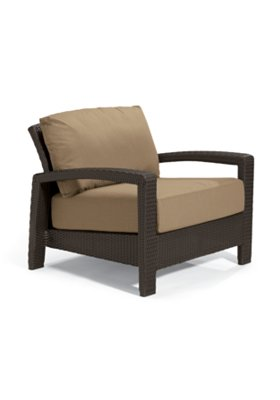 outdoor woven arm chair
