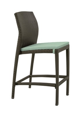 patio armless bar stool with seat pad