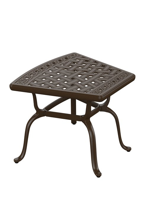 patio wedge end table