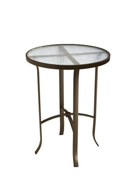 acrylic round patio bar table