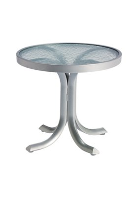 round acrylic patio tea table