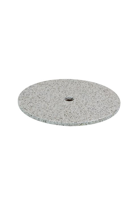 outdoor round stone table top with umbrella hole