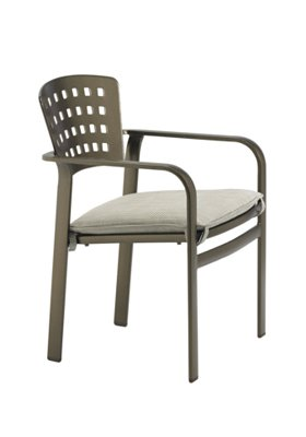 outdoor dining chair with pad