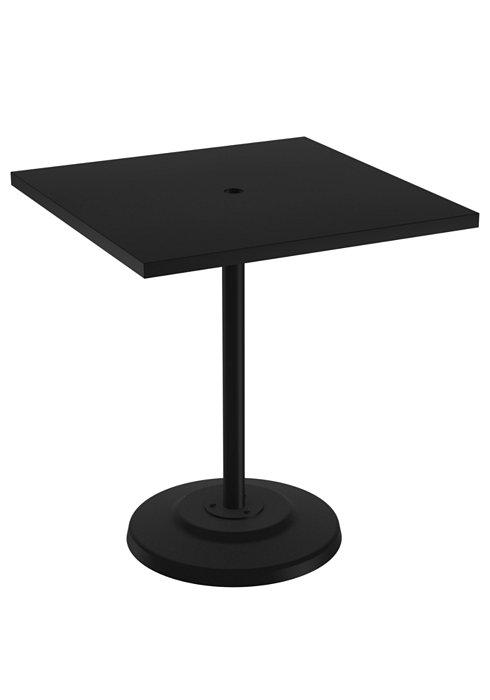 pedestal patio square bar umbrella table