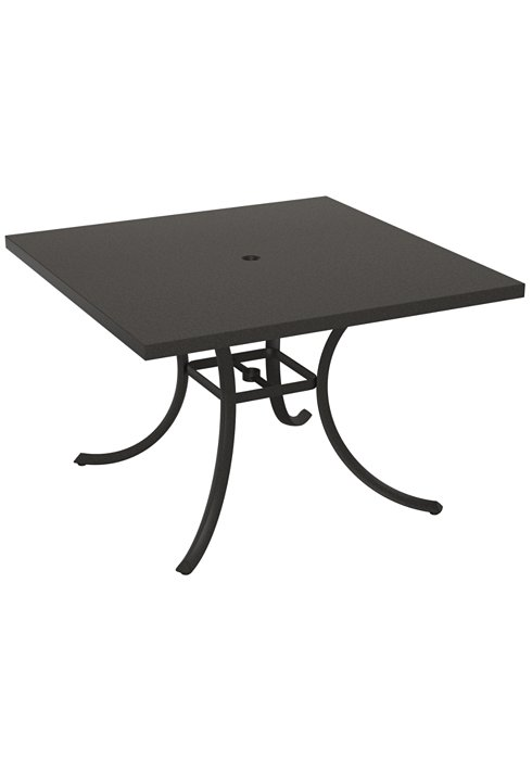 squared outdoor dining umbrella table