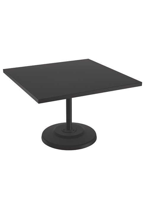 square patio pedestal dining table