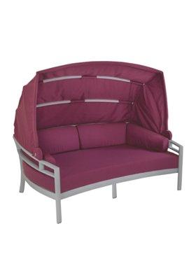 patio cushion lounge with shade