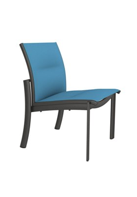 padded outdoor side chair