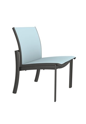 outdoor relaxed sling side chair