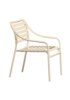 outdoor strap club chair