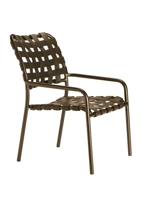 patio cross strap dining chair