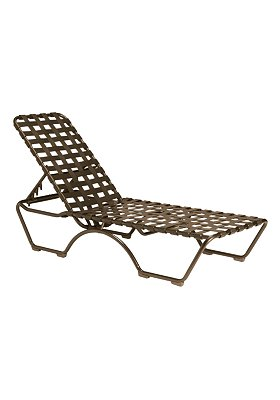 patio cross strap chaise lounge