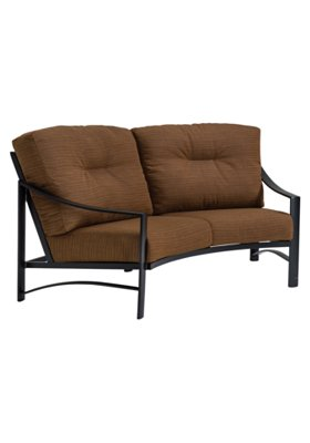 patio cushion crescent love seat