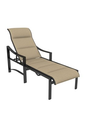 padded sling patio chaise lounge