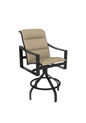 padded sling outdoor bar stool
