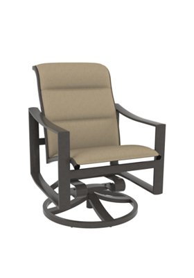 padded sling outdoor swivel rocker