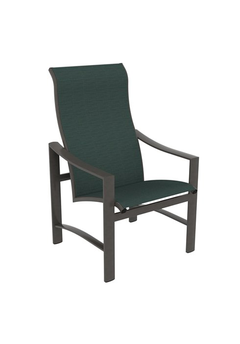 patio sling high back dining chair