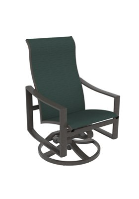 sling high back patio swivel rocker