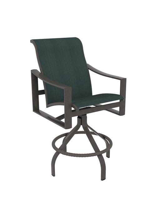 outdoor sling swivel bar stool