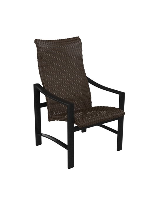 woven high back outdoor dining chair