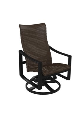 patio high back outdoor swivel rocker