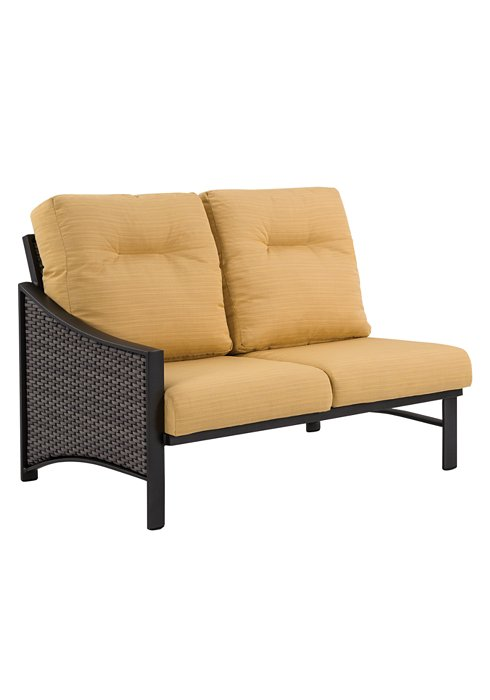 woven right arm double seat patio module