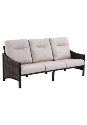 patio woven sofa