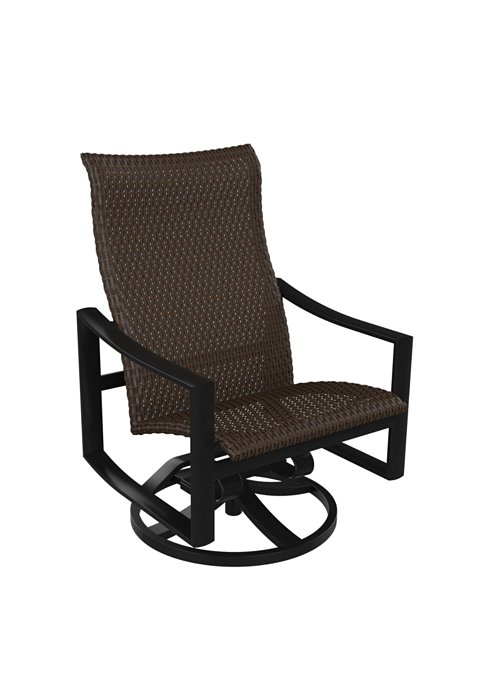 woven swivel patio action lounger