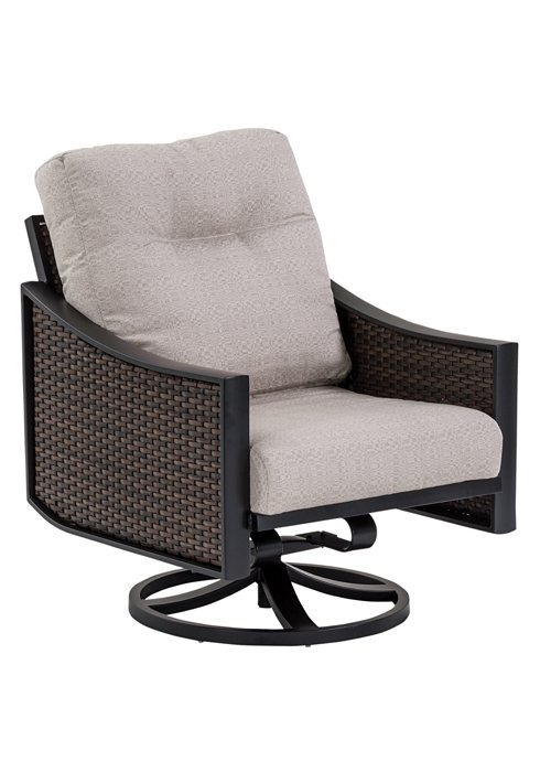 woven patio swivel action lounger
