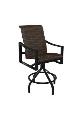 woven swivel outdoor bar stool