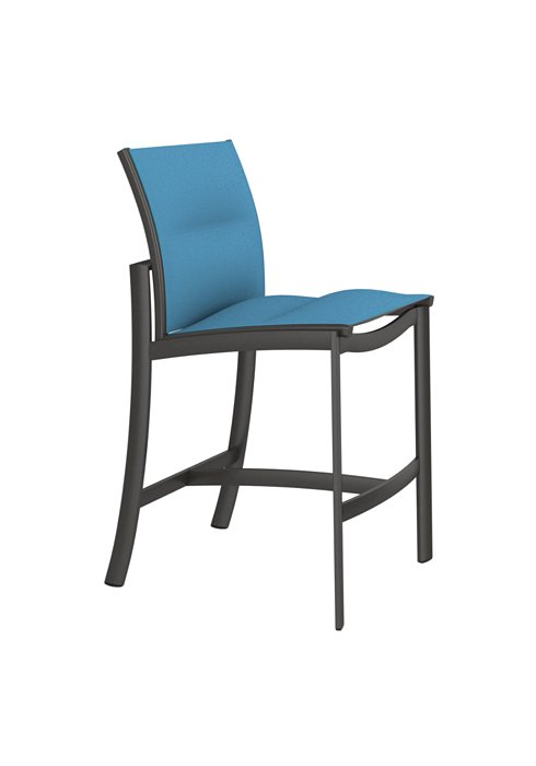 padded sling armless outdoor bar stool