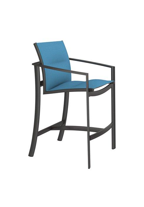 padded sling patio bar stool