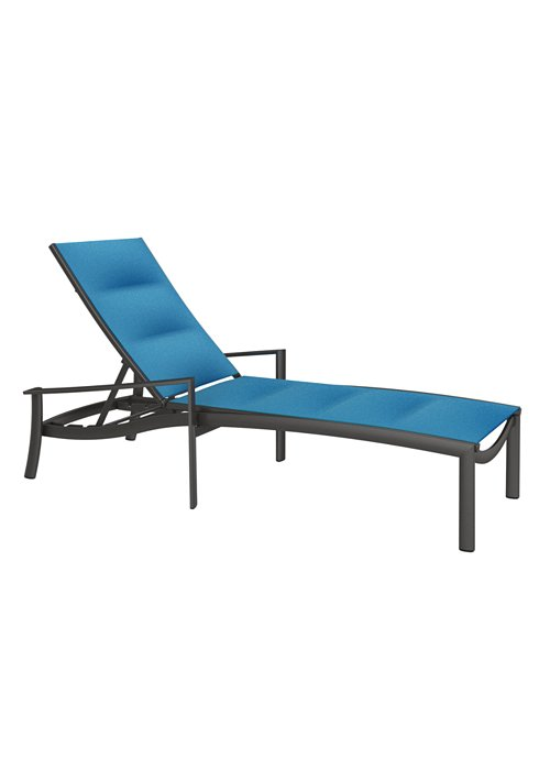 padded sling outdoor chaise lounge