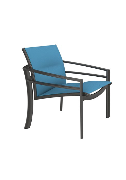 padded sling patio lounge chair