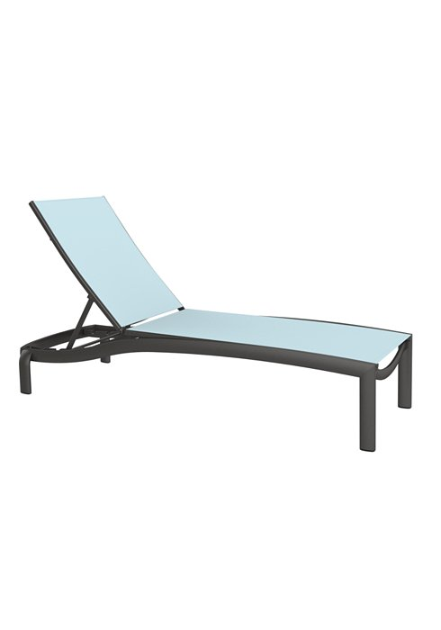 relaxed sling armless patio chaise lounge