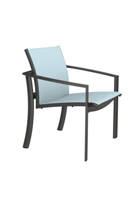 relaxed sling outdoor dining chair