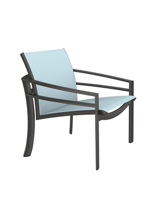 relaxed sling patio lounge chair