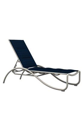 padded sling chaise lounge for patio